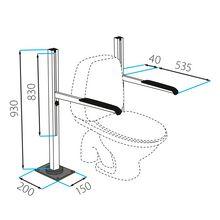 Toilettenstützgestell, Bodenmontage
